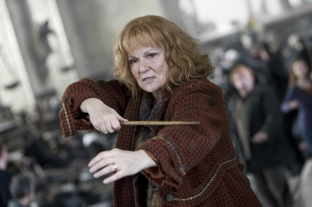 Molly Weasley's expression after she killed Bellatrix reflected our own emotions.