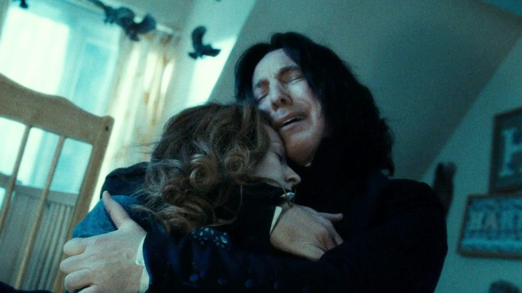 Snape confesses his continued love for Harry's mother.