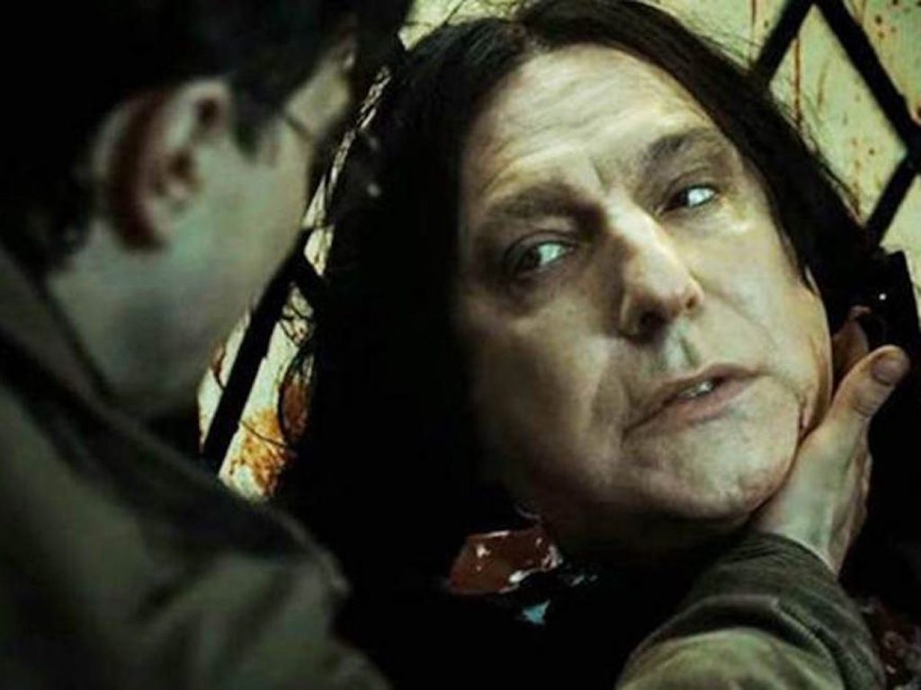 Severus Snape remembers Lily Evans in his last moments.